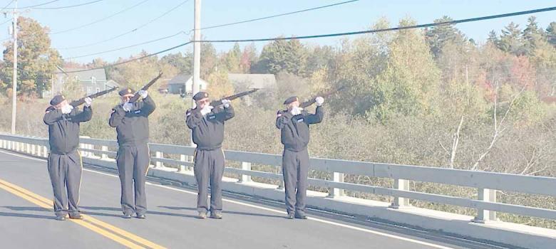 East Machias dedicates Norman E. Bagley Memorial Bridge